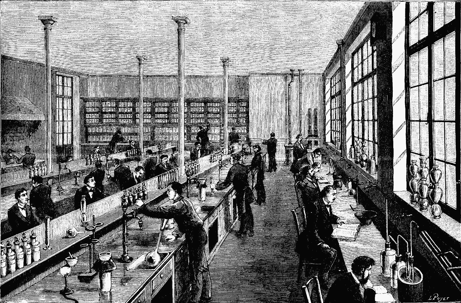 Description paris school of physics and chemistry laboratory 1884