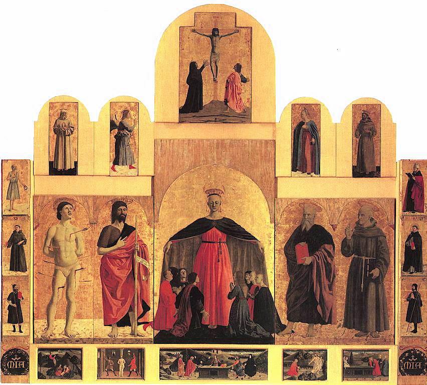 Piero della Francesca,Polittico della Misericordia,1444-1465, tecnica mista su tavola, 273x330 cm, Museo Civico, Sansepolcro