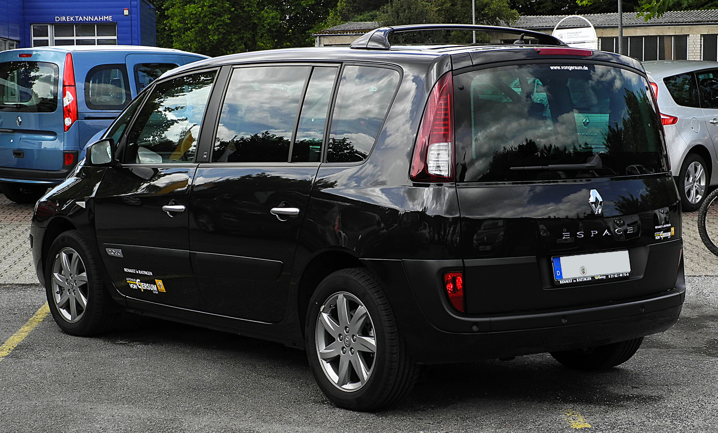 file renault espace edition 25th dci 175 iv facelift heckansicht 17 juli 2011 ratingen. Black Bedroom Furniture Sets. Home Design Ideas