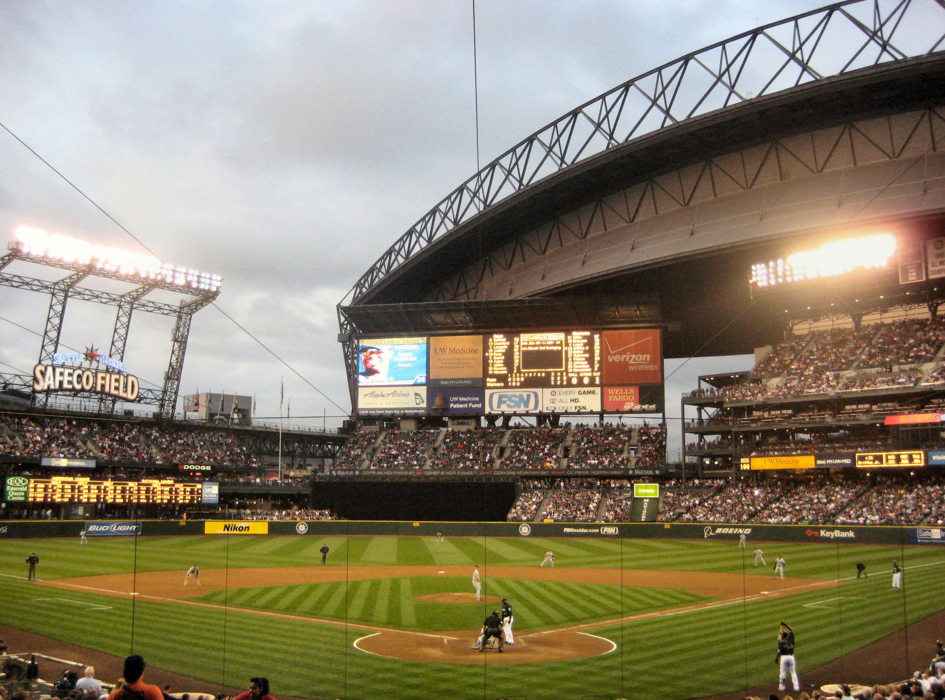 File:Safeco Field. Against Tampa Bay Rays, with Ken ...