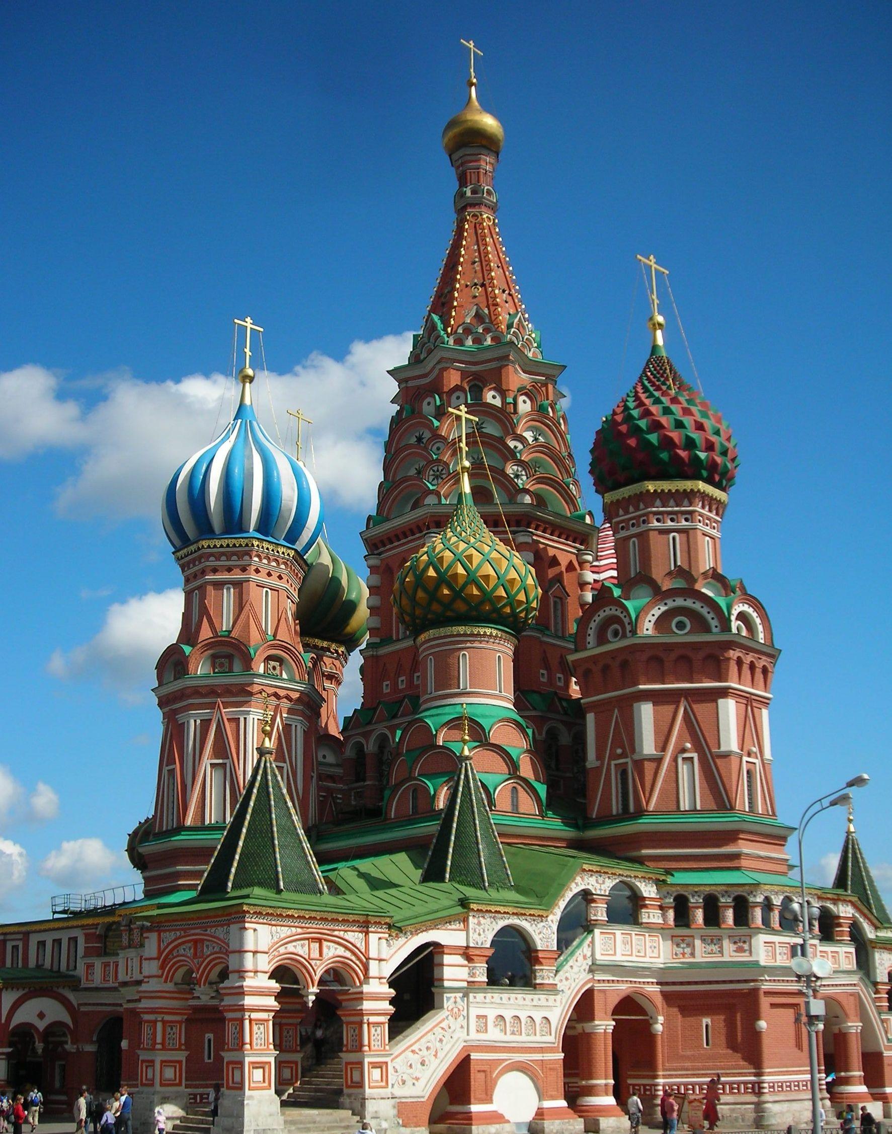 Nhà thờ lớn - Tòa thánh Saint Basil - Moscow (nước Nga). Ảnh: Wikipedia
