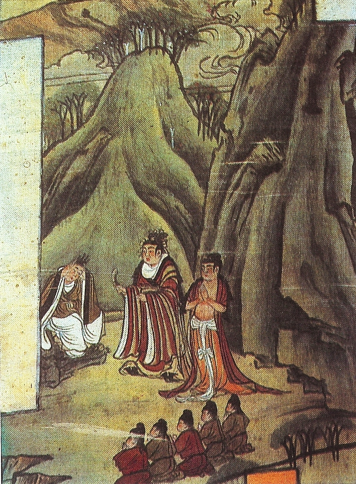 File Sakyamuni Cuts His Hair Detail Tang Dynasty Jpg