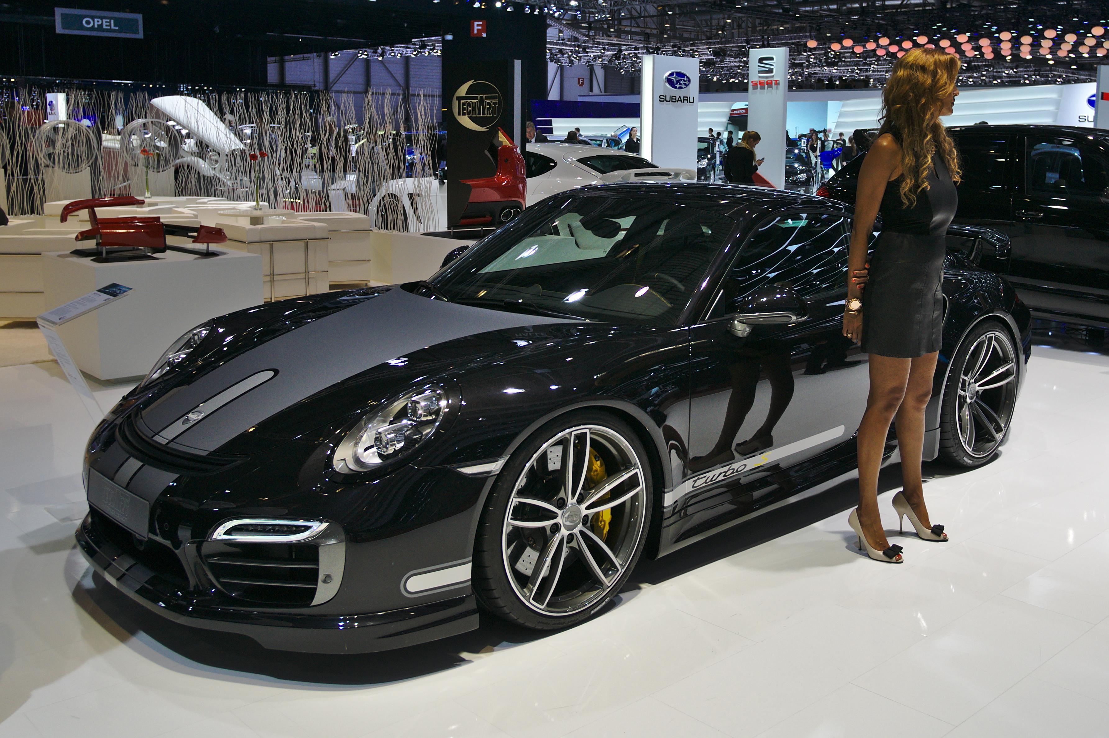 File salon de l 39 auto de gen ve 2014 20140305 techart porsche 911 turbo wikimedia commons - Salon de l automobile 2014 ...