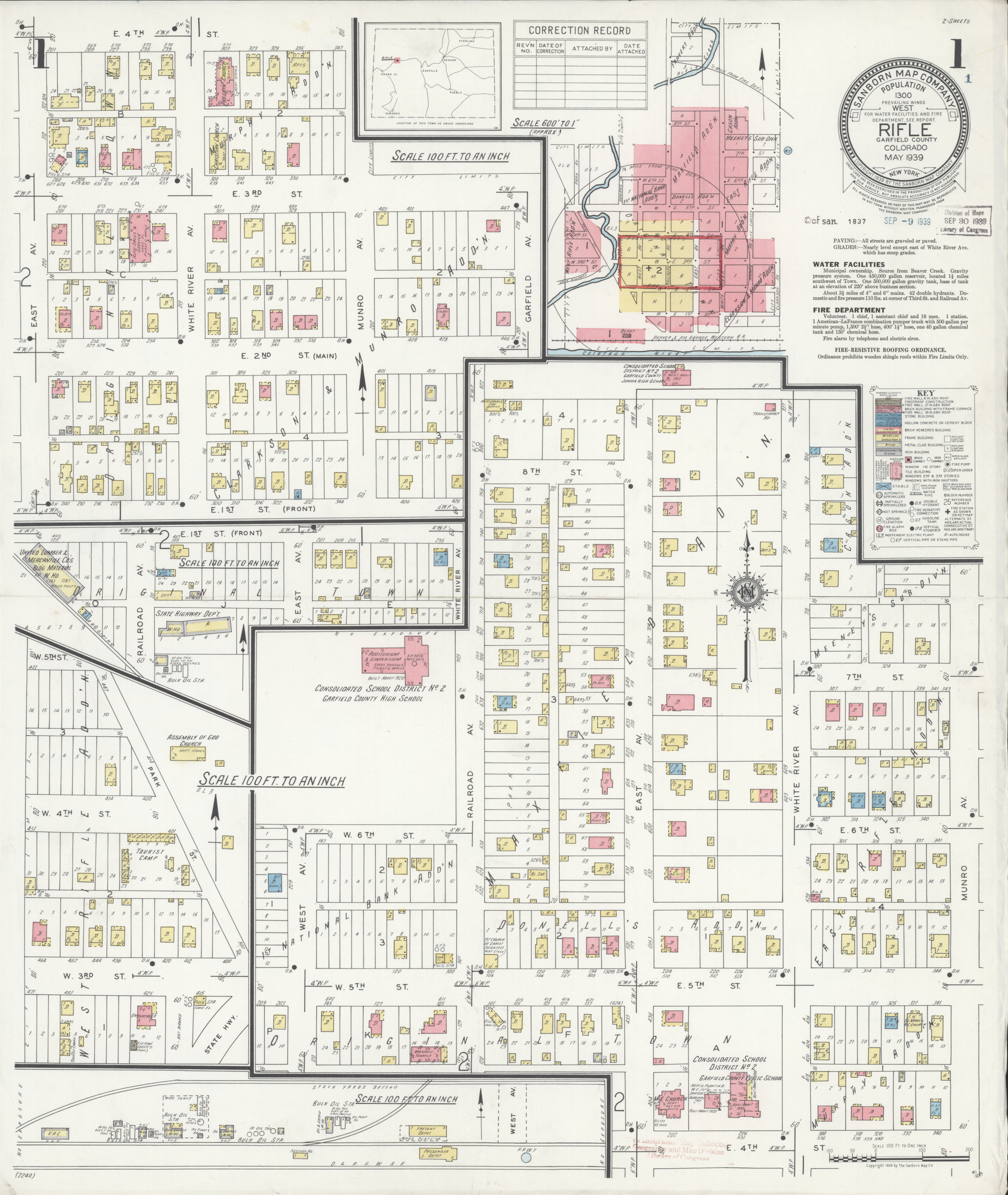 File Sanborn Fire Insurance Map From Rifle Garfield County