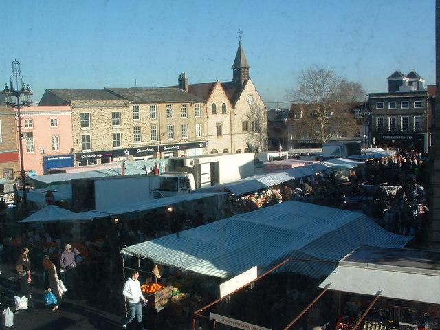 Saturday Market Bury St.Edmunds - geograph.org.uk - 327500