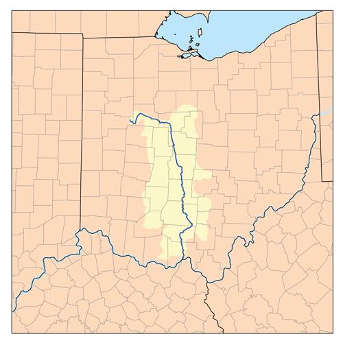 Filesciotorivermap Wikimedia Mons: Map Of Scioto River Ohio At Usa Maps