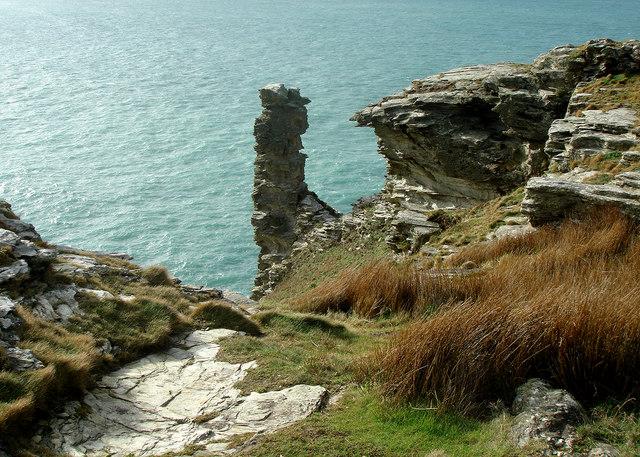 Sea Stack Tintagel - geograph.org.uk - 687026
