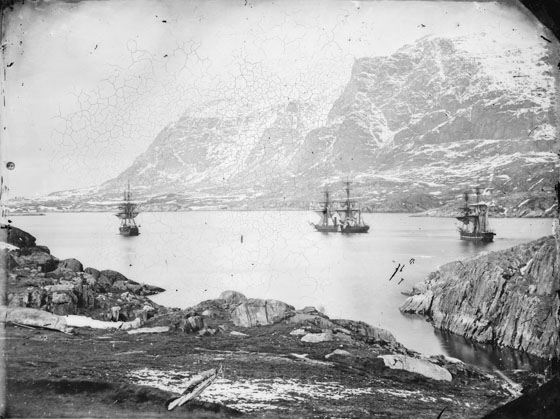 Ships of Inglefield's expedition at anchor