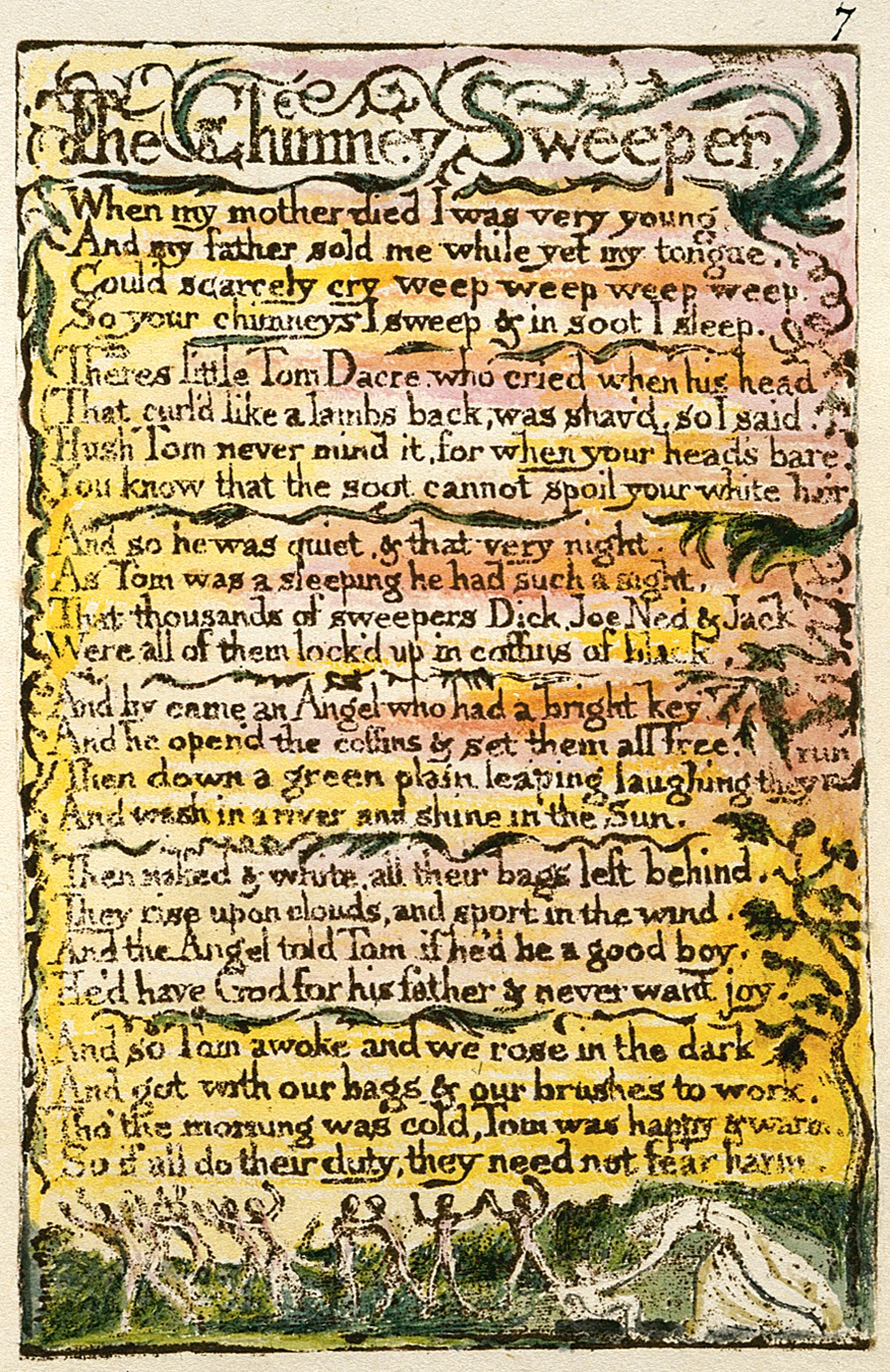 "an analysis of the chimney sweeper a poem by william blake Academic forum 26 2008-09 11 making a heaven of the innocents' misery: william blake's ""chimney sweeper"" poems by michael james mcclard."