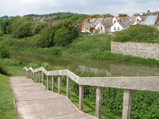 Steps down to the Royal Military Canal - geograph.org.uk - 451816