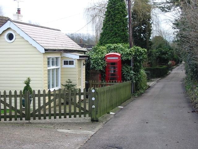 Telephone box on Church Lane, Kingston. - geograph.org.uk - 323320