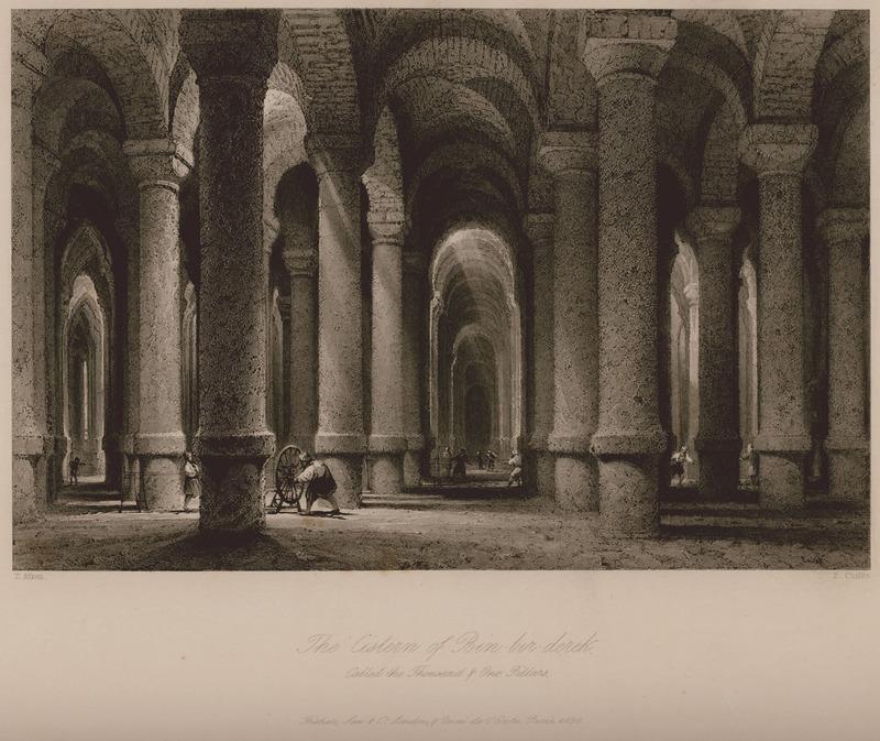 Цистерна Бин-бир-дерек, называемая Тысяча и один столб - Уолш Роберт и Аллом Томас - 1836.jpg