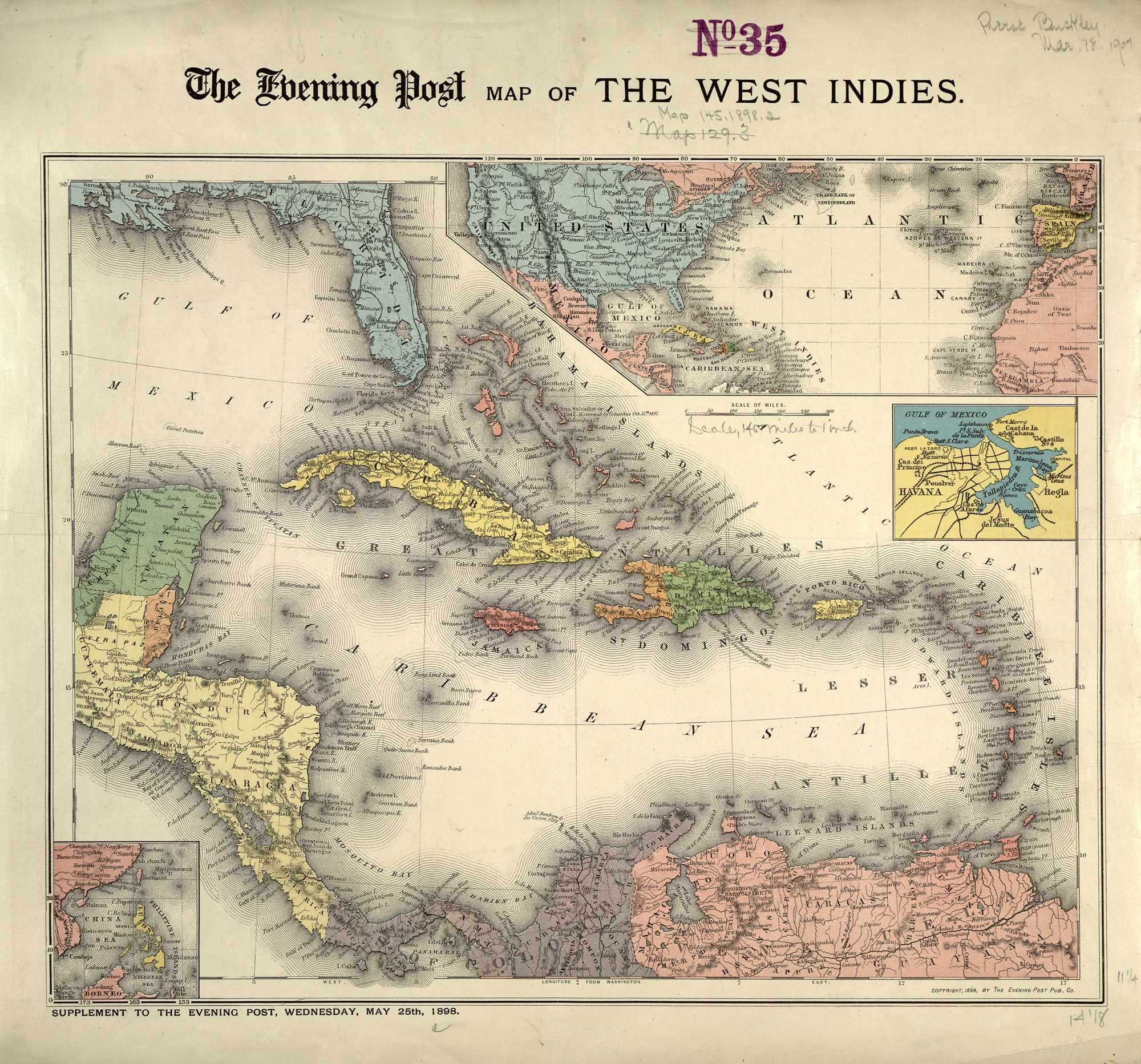 The Evening Post map of the West Indies | Great Writers Inspire
