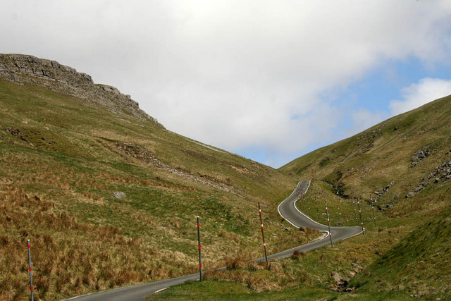 The road up Great Dun Fell
