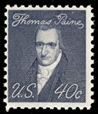 In 1969, a Prominent Americans series stamp honoring Paine was issued.