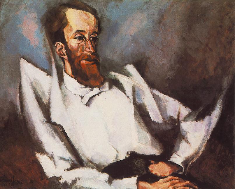 Tihanyi Lajos portréja Fülep Lajosról, 1915