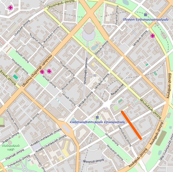 FileTpagrichner Street Map Yerevanpng Wikimedia Commons - yerevan map