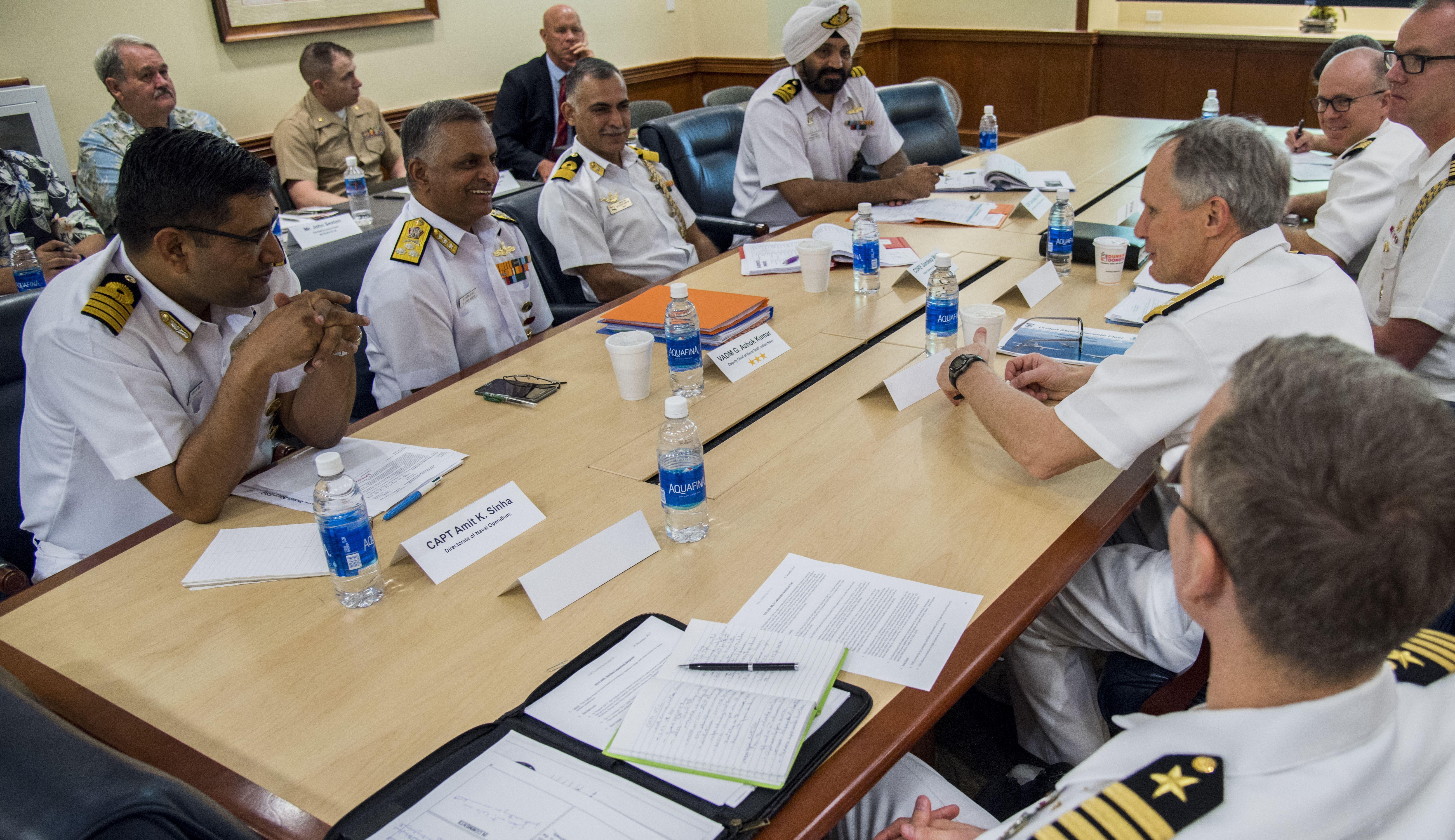 File:U S  and Indian Navy leadership meet in Pearl Harbor