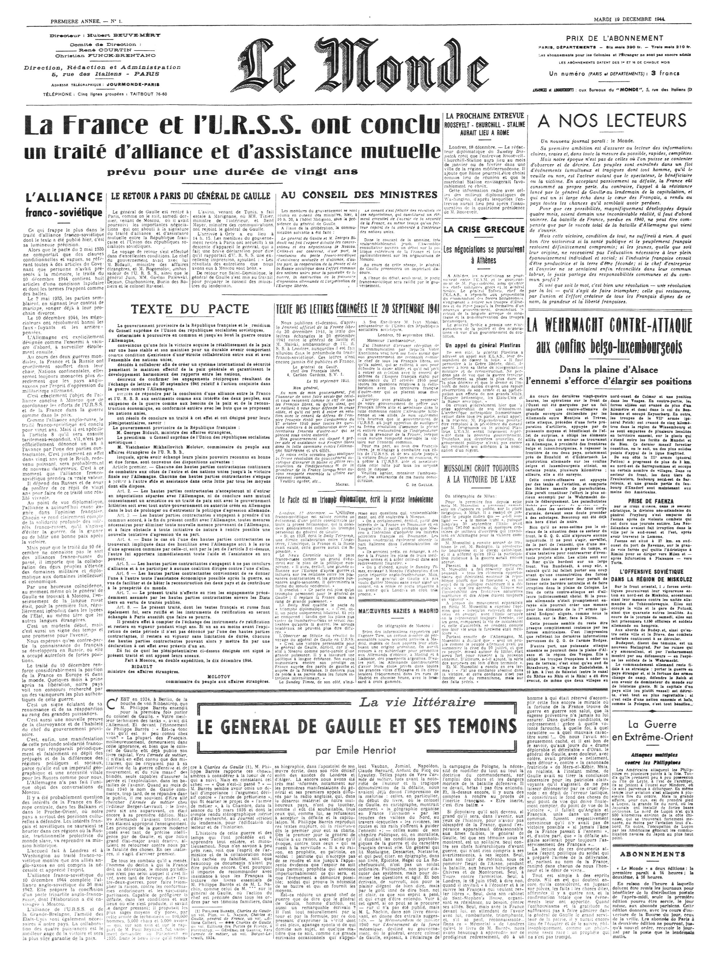 Le Monde - Wikipedia, the free encyclopedia