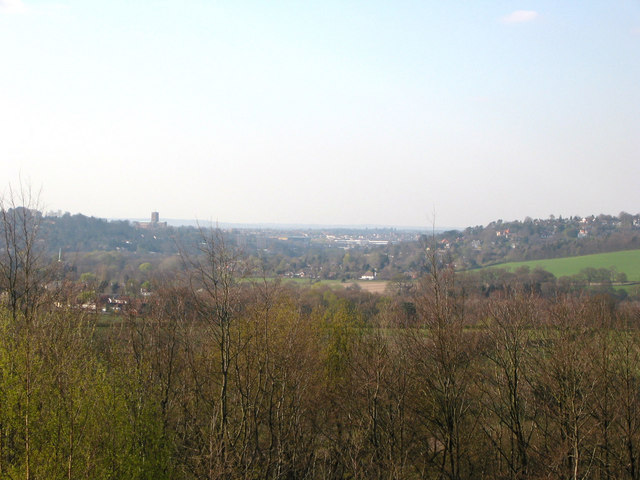 View of Guildford from Chinthurst Hill - geograph.org.uk - 528737