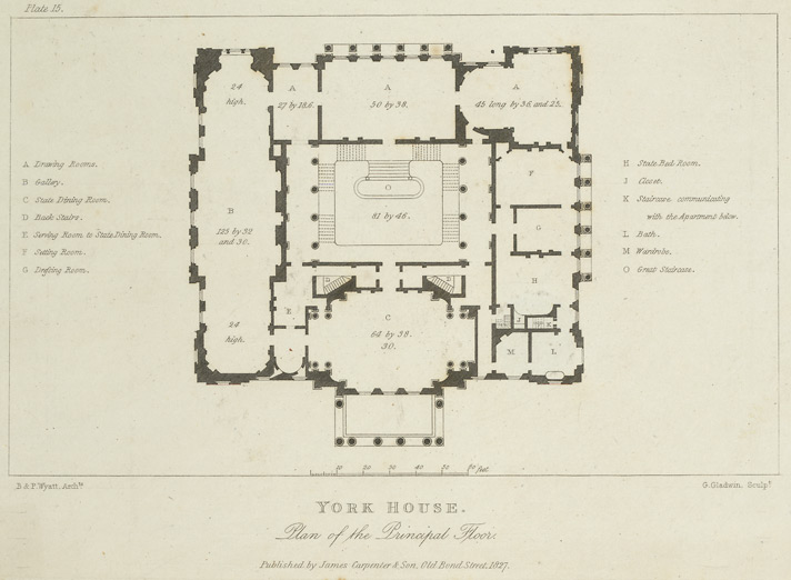 File york house plan of the principal wikimedia commons - Interior plan de campagne ...