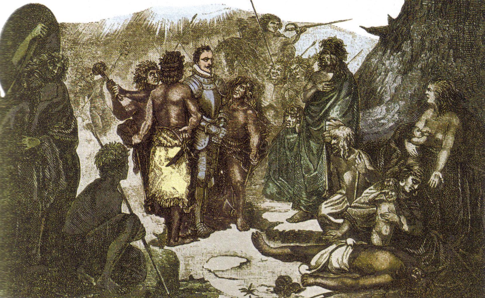 Depiction of Batalla de Tucapel