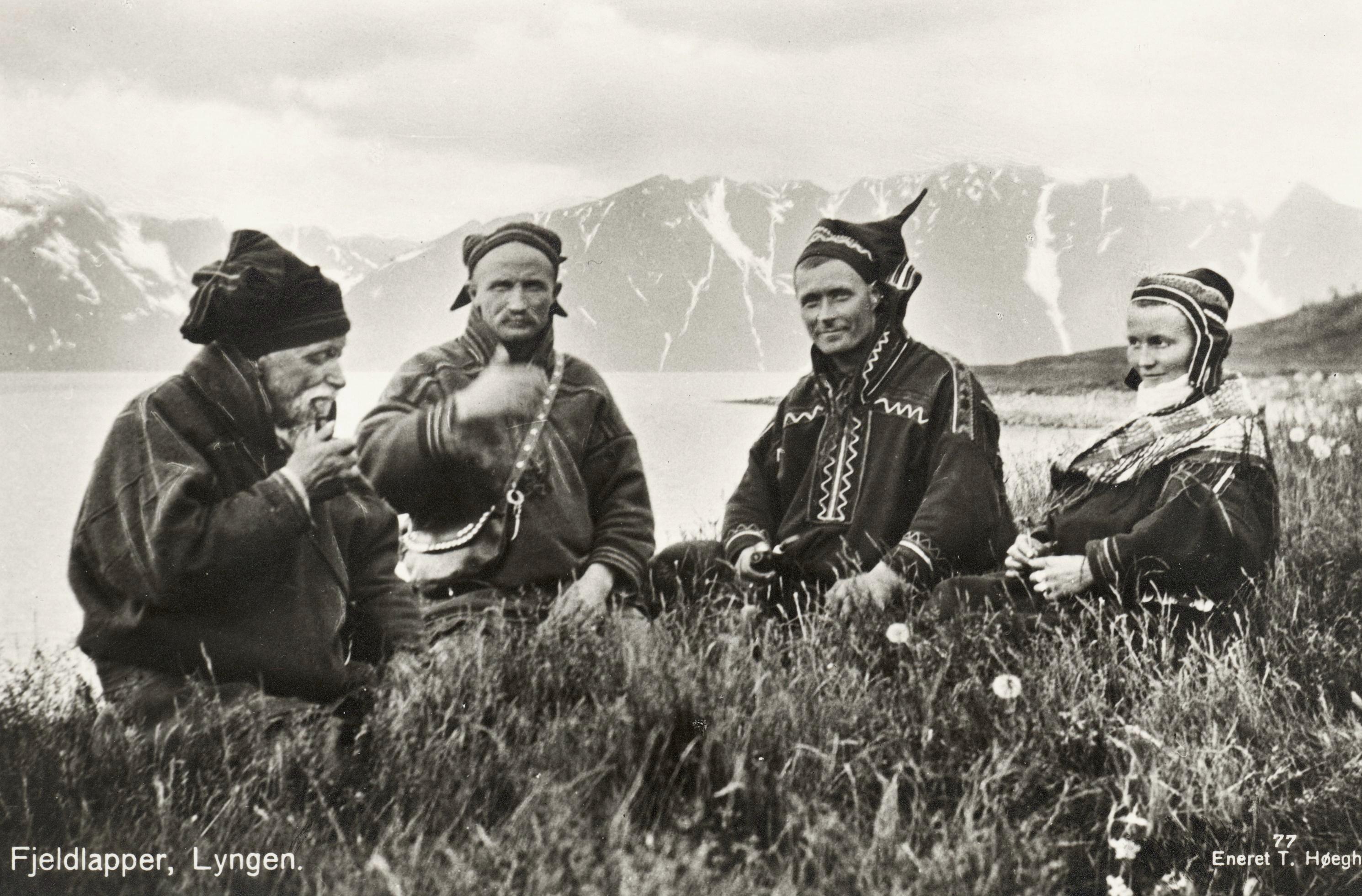 File 1928 Lyngen Troms Norway Group Mountain Sami People