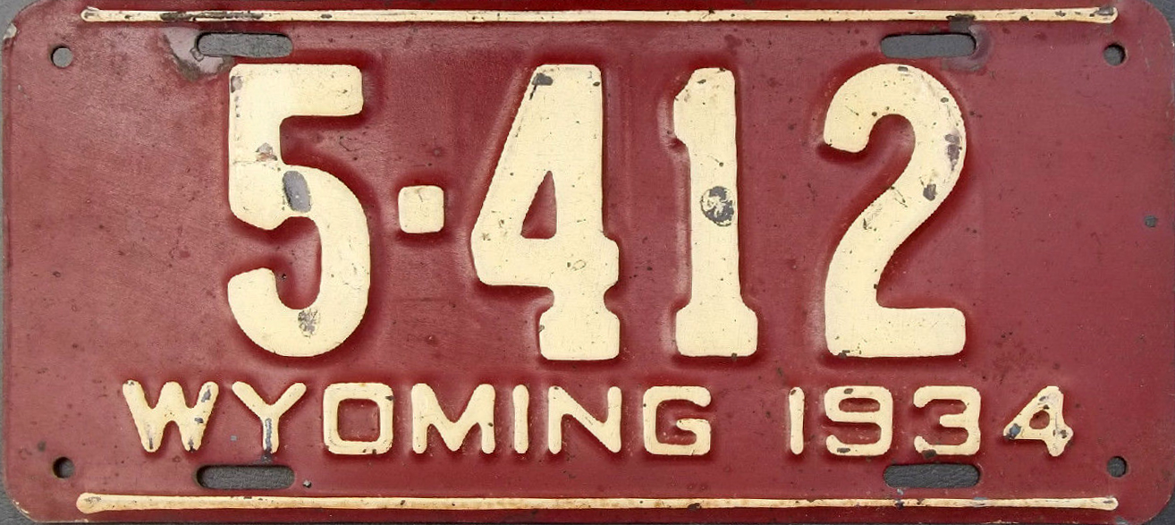 File:1934 Wyoming license plate.jpg - Wikipedia