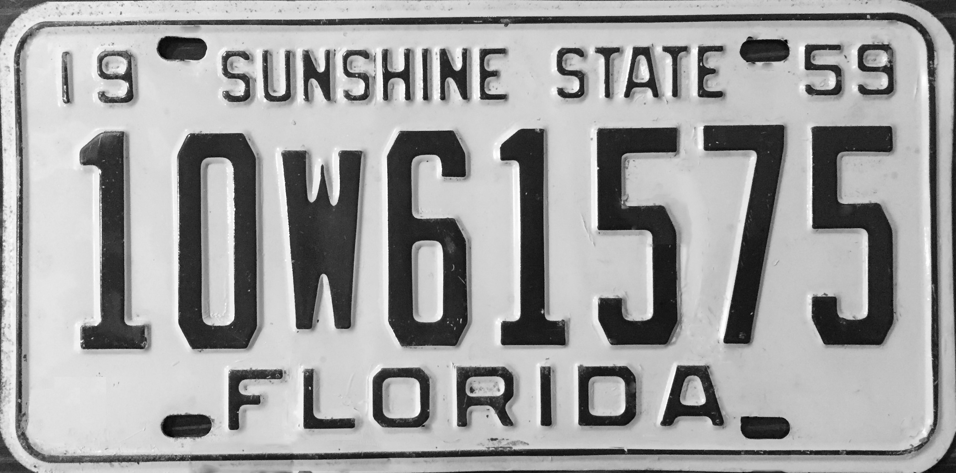 File:1959 Florida license plate.JPG - Wikimedia Commons