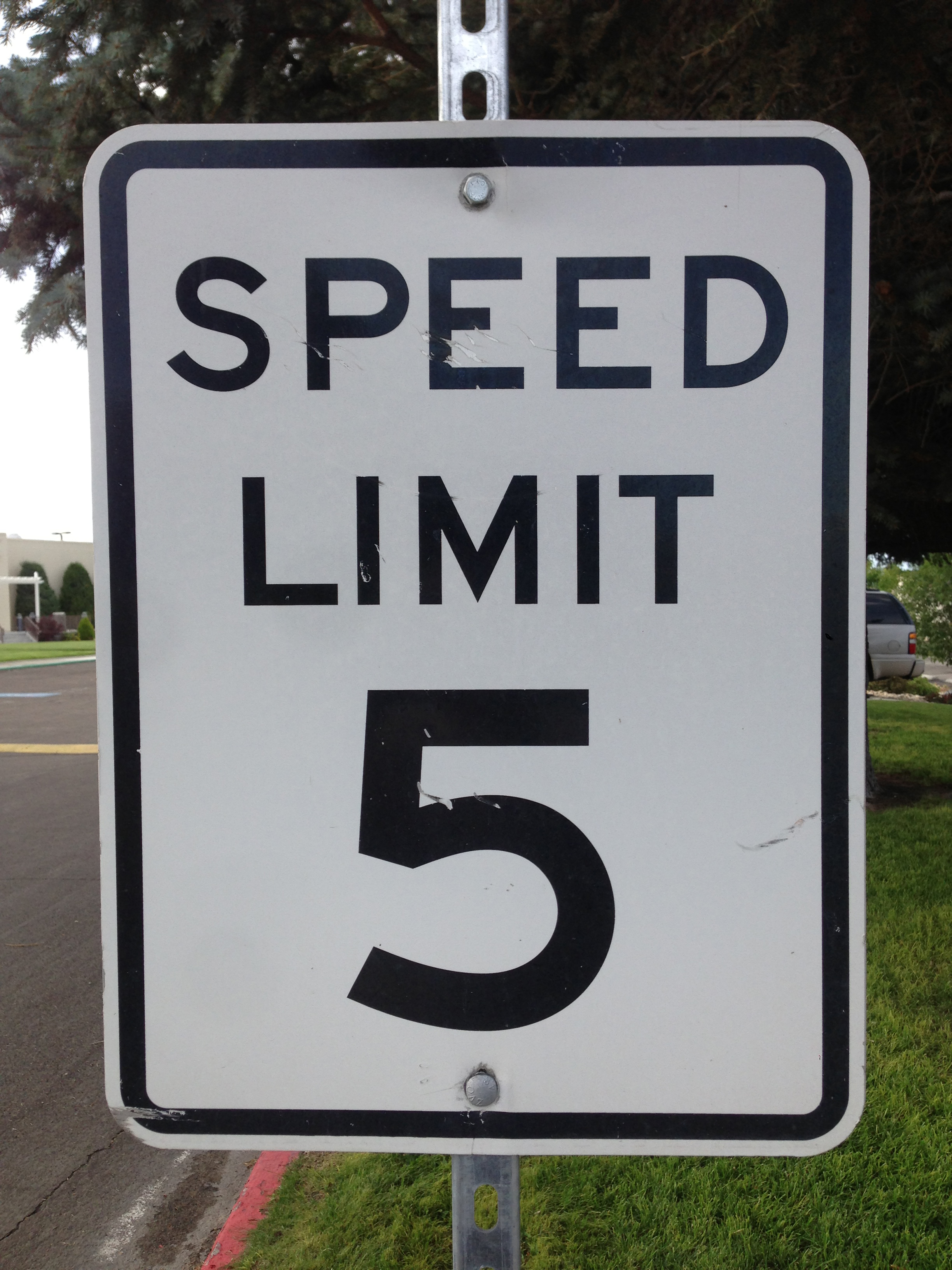 File:2014-08-12 17 50 28 Speed Limit 5 miles per hour sign at the ...