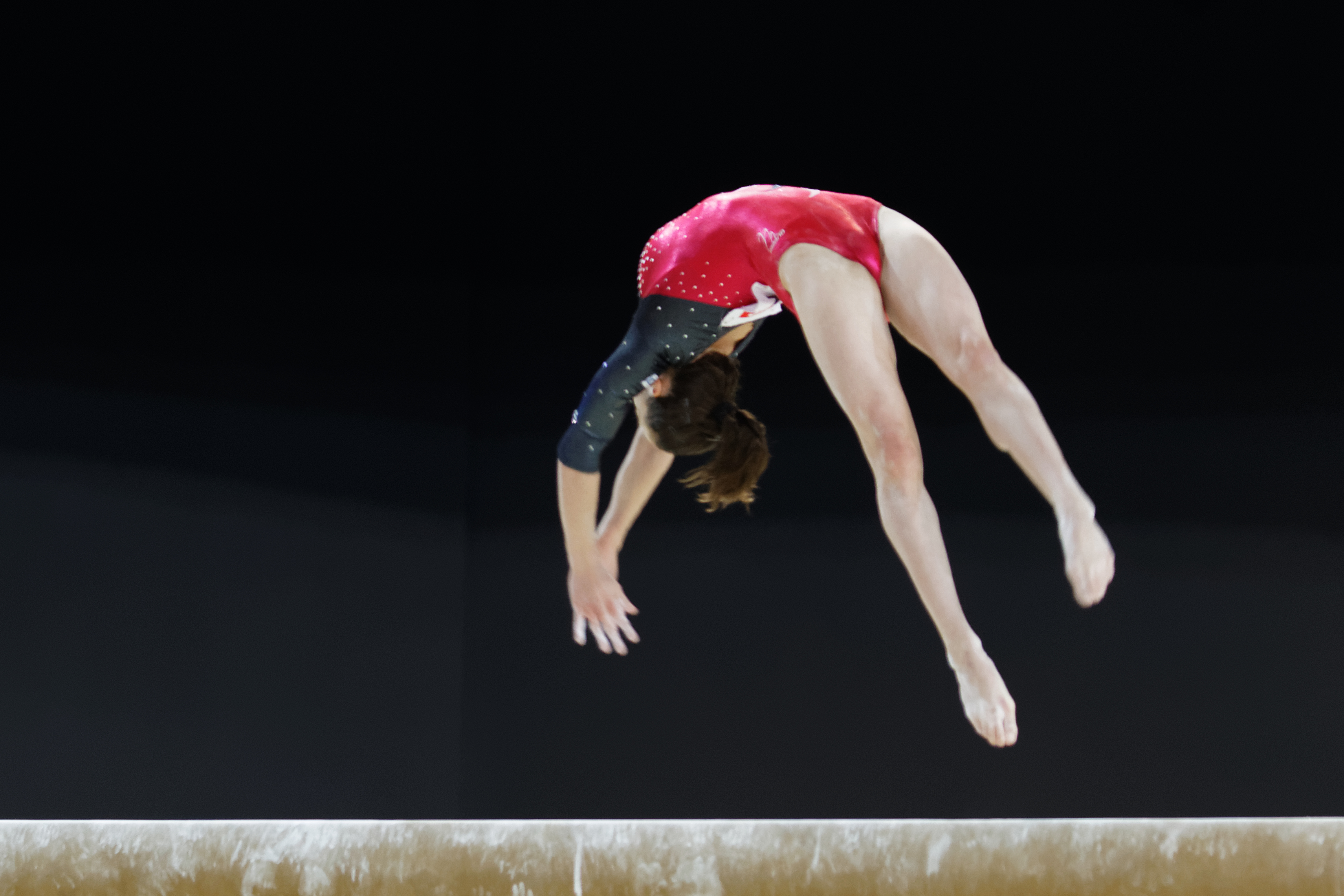 in, usa; maggie nichols competes on the uneven bars the pg gymnastics championships