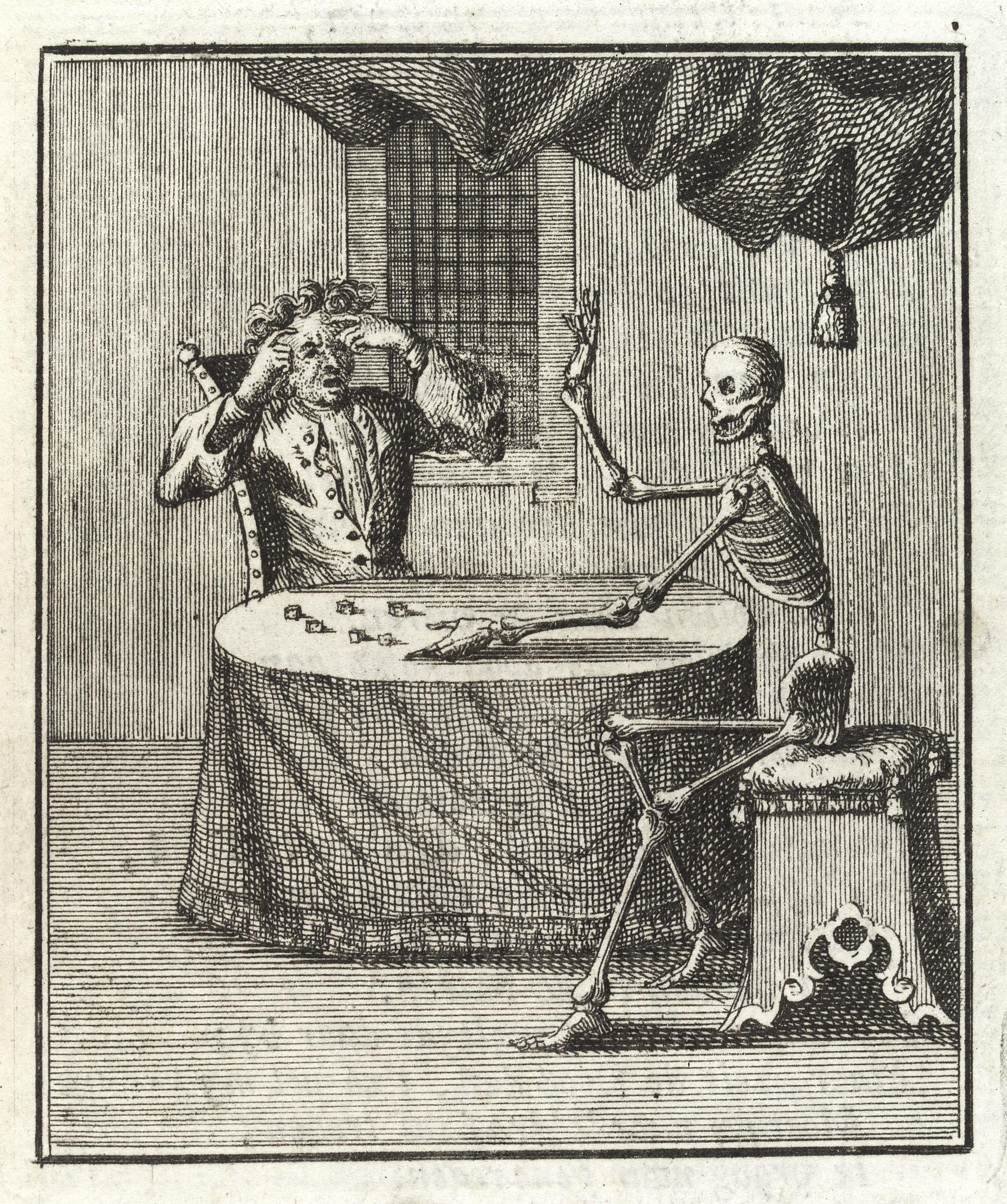 File:A man dicing with death, as a skeleton, 1764 Wellcome L0037504.