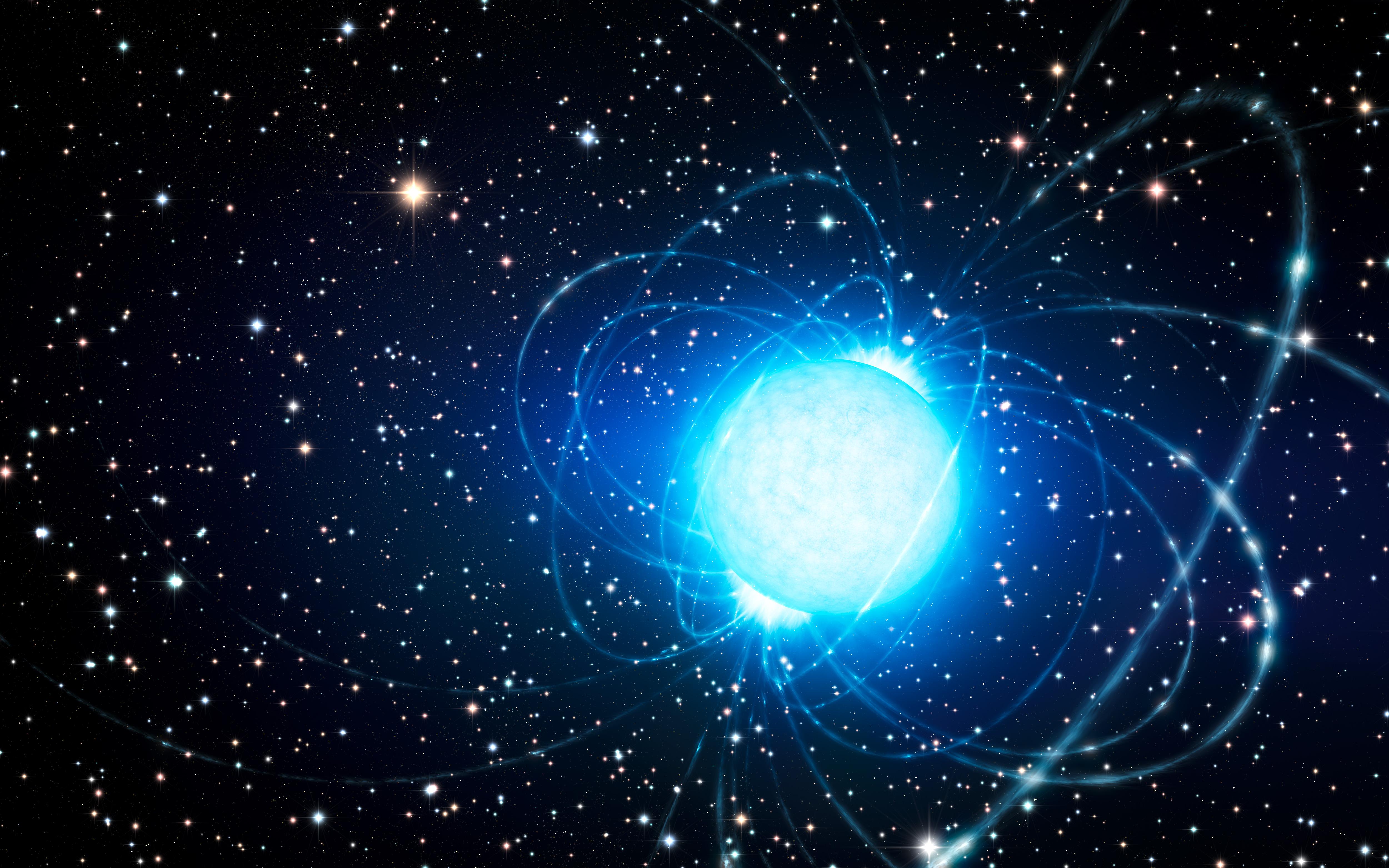 Astronova blog d'astronomie et du spatial - Vue d'artiste d'un magnétar © ESO
