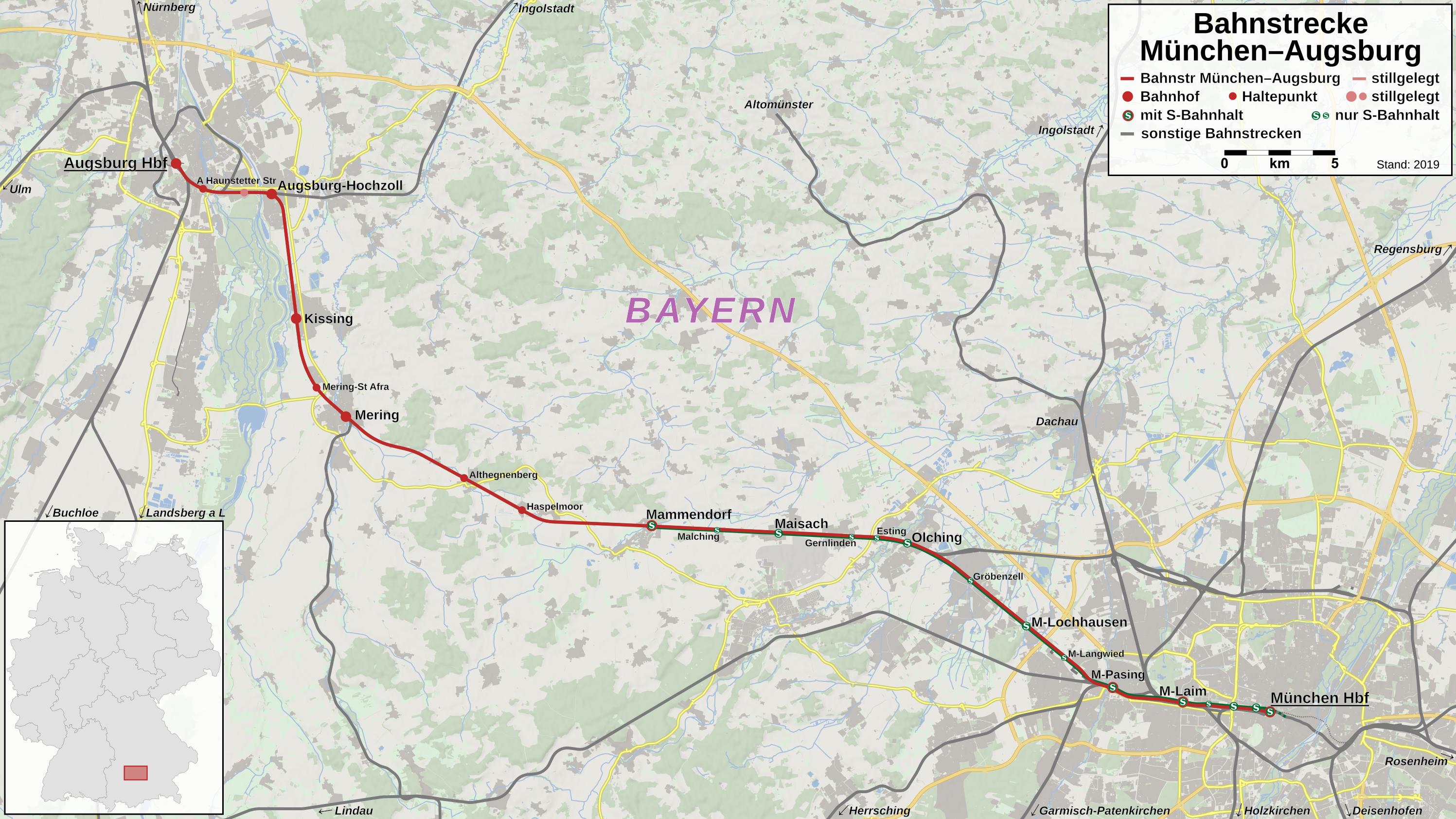 Karte Augsburg.Datei Bahnstrecke Munchen Augsburg Karte Png Wikipedia