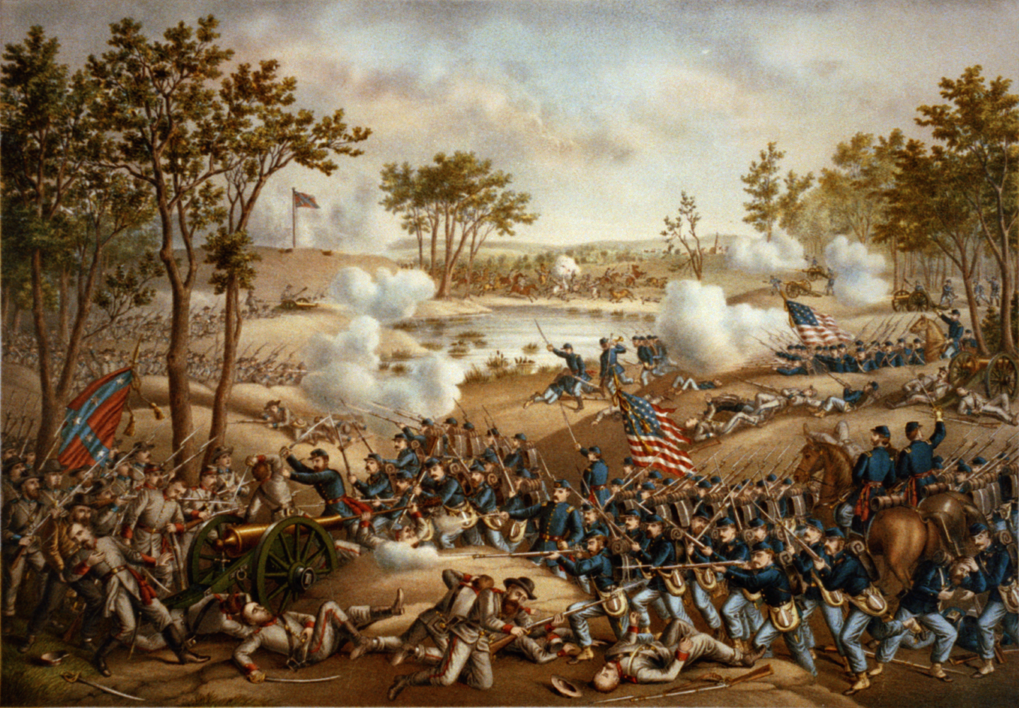 a description of gettysburg as the largest bloodiest and most celebrated battle of the civil war