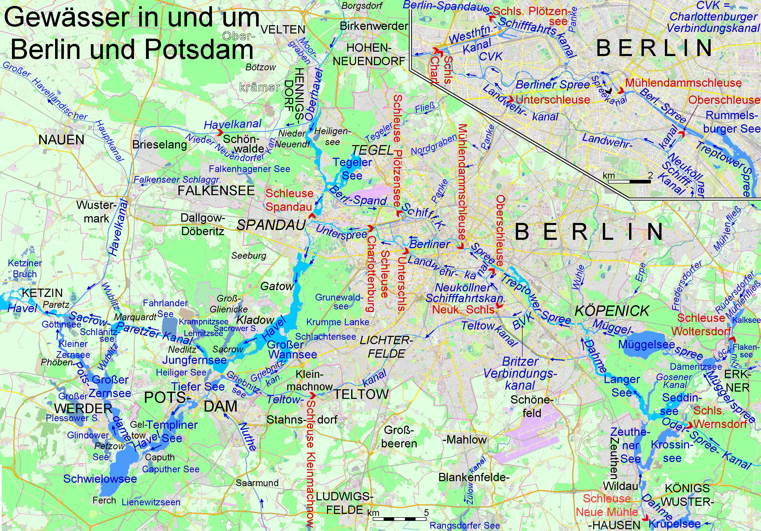 Spree Karte.Spree Wikipedia