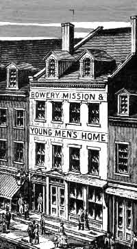 The Bowery Mission at 36 Bowery in New York City, c. 1880s Boweryrm.jpg
