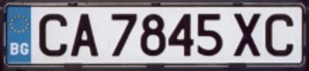 Bulgarien Autokennzeichen