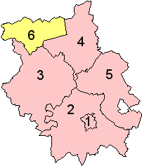 Distrikte und Unitary Authority