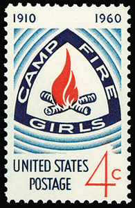 Camp Fire Stamp