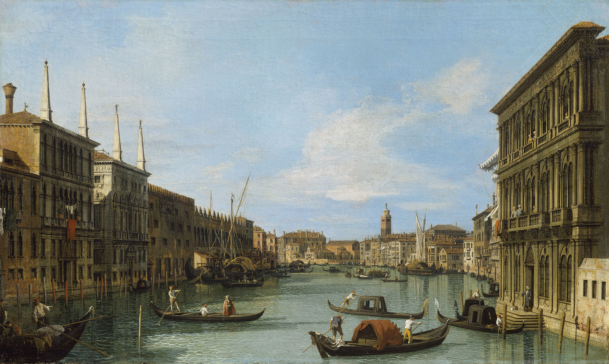 Canaletto - The Grand Canal from the Palazzo Vendramin-Calergi towards S. Geremia RCIN 406982.jpg