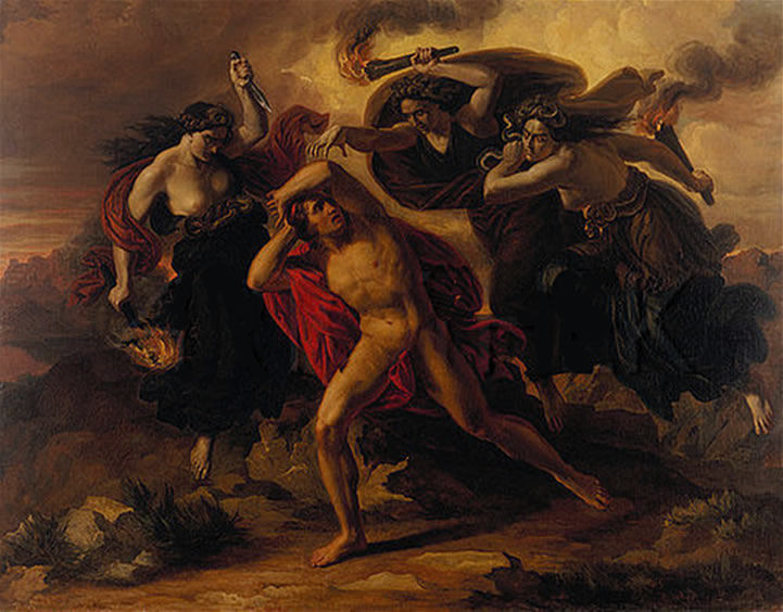 Carl Rahl - Orestes Pursued by the Furies (1852)