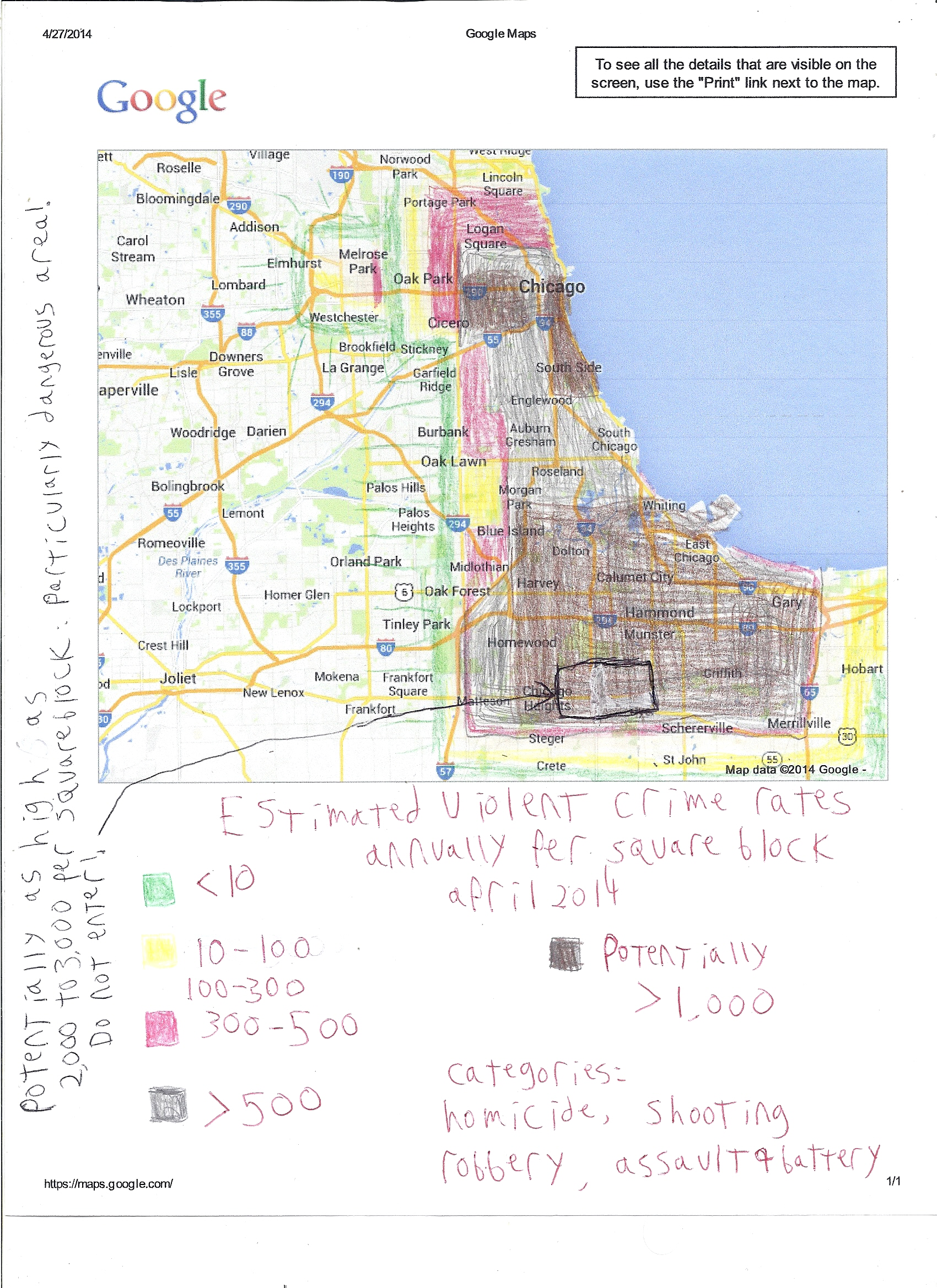Chicagoland crime map
