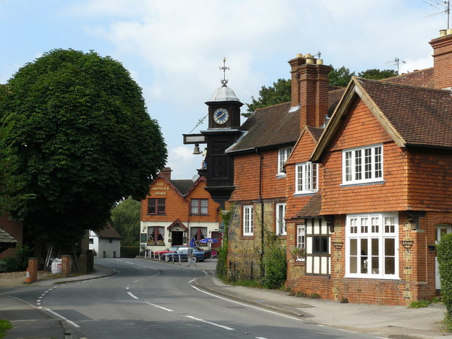 Clock at Abinger Hammer - geograph.org.uk - 1160838