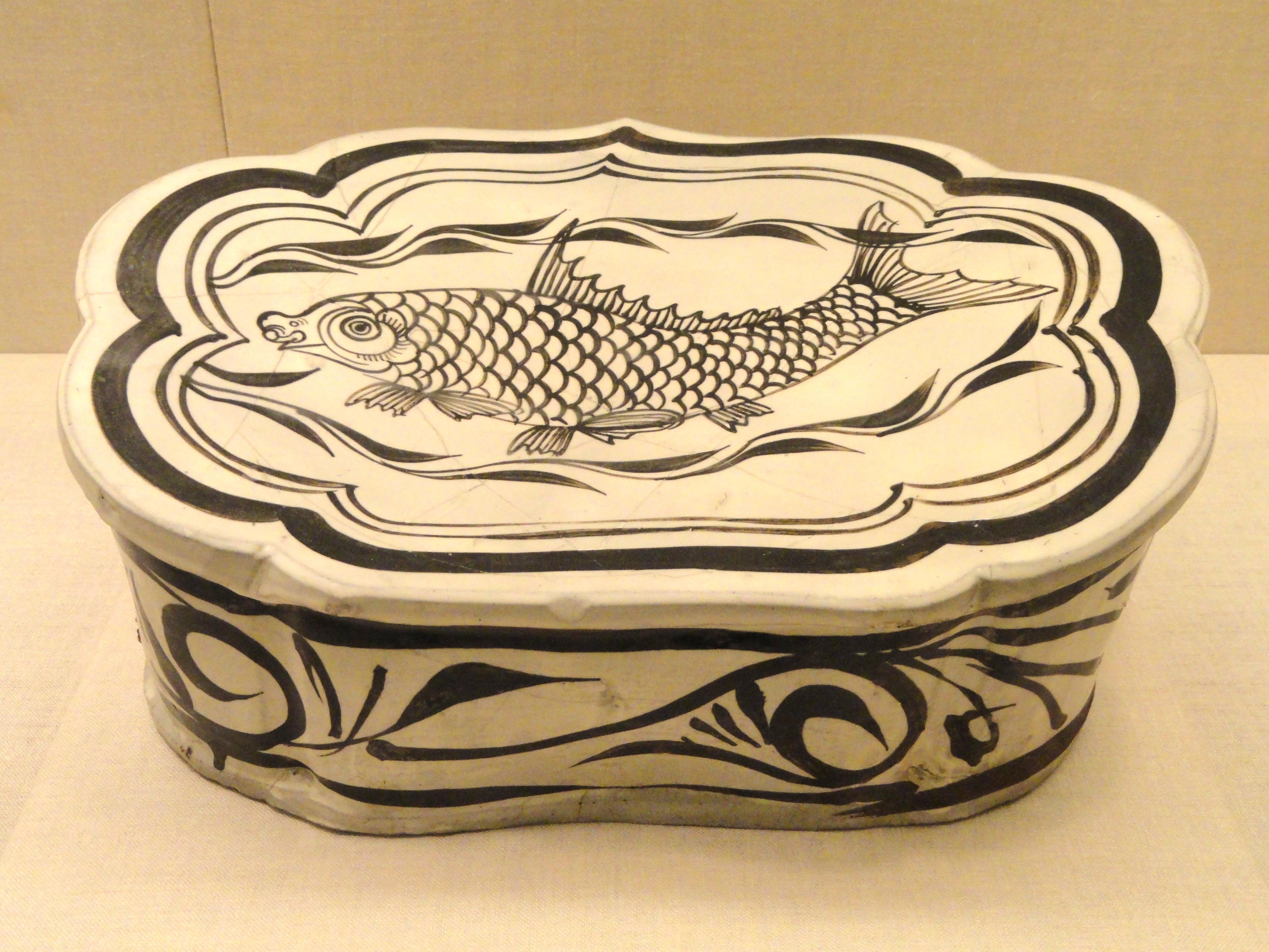 Jin Dynasty China Cizhou type Ware Stoneware With Fish Design