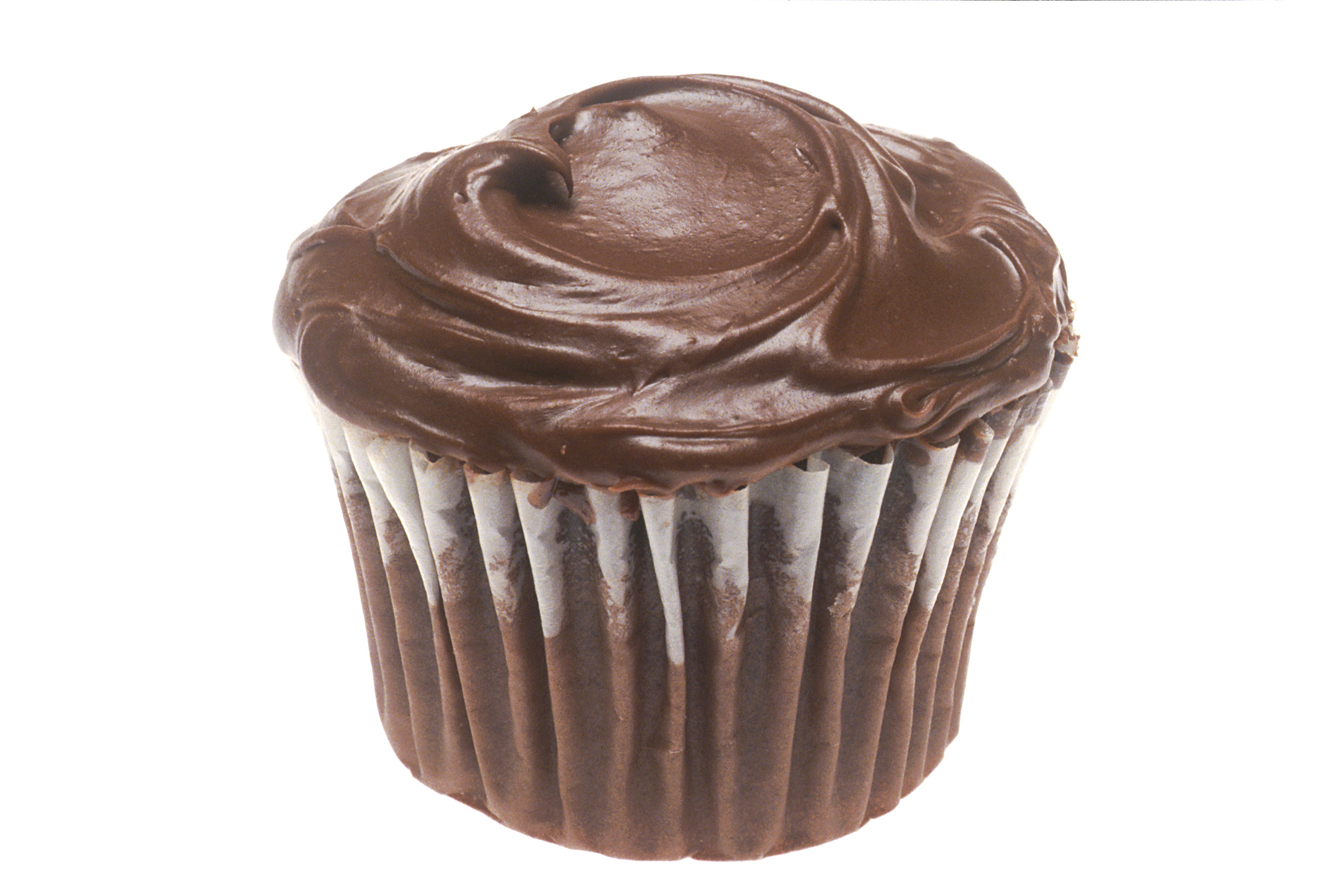 Photo Of Vanilla Cake And Chocolate Frosting
