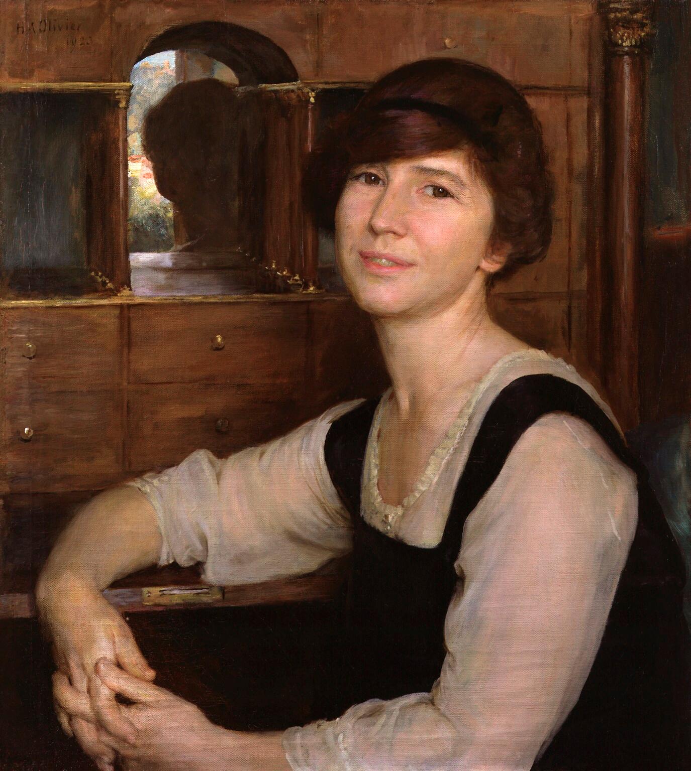 Portrait by [[Herbert Arnould Olivier]] (1923), [[National Portrait Gallery, London]]