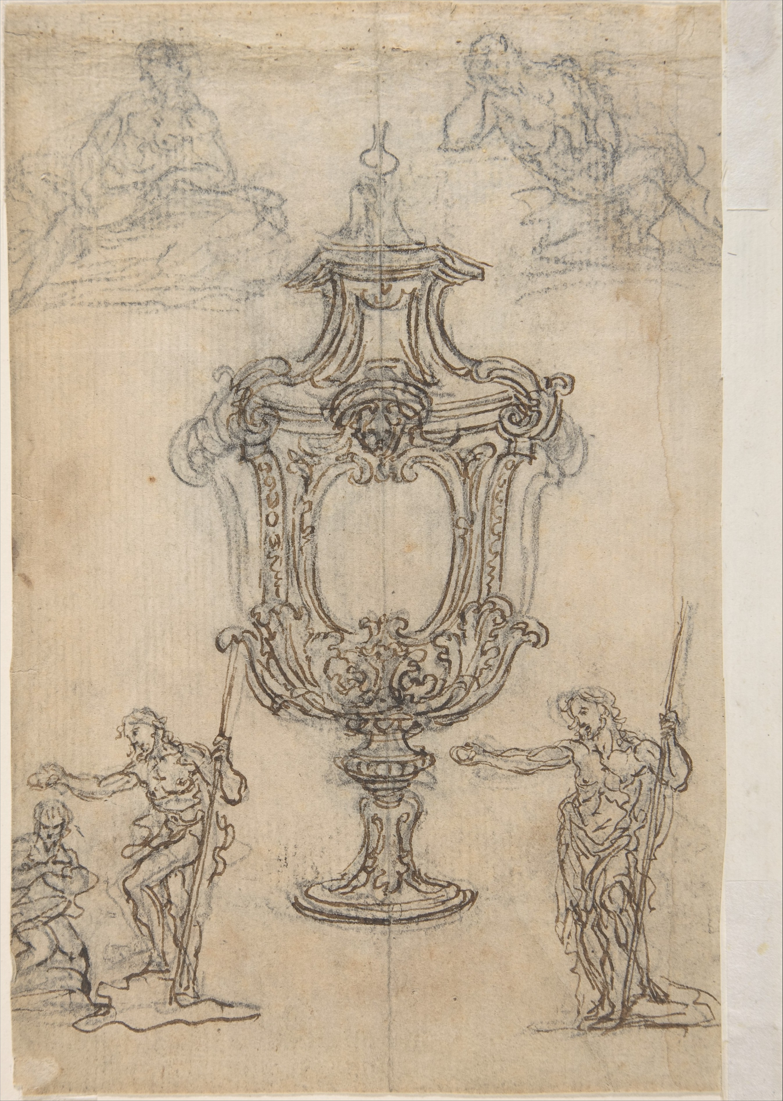 file design for a vase with a cross