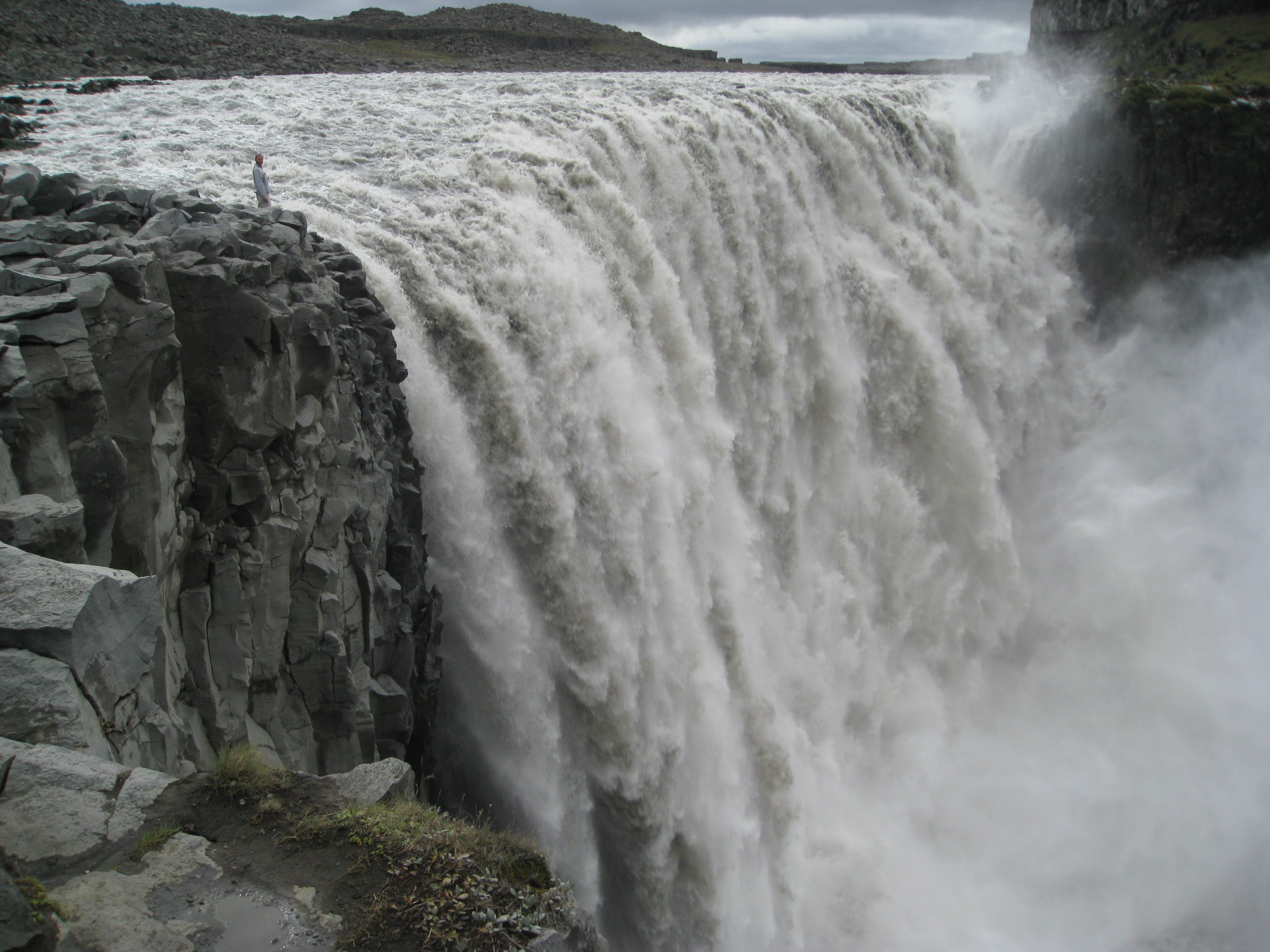 Dettifoss, the most powerful waterfall in Europe, is in Iceland