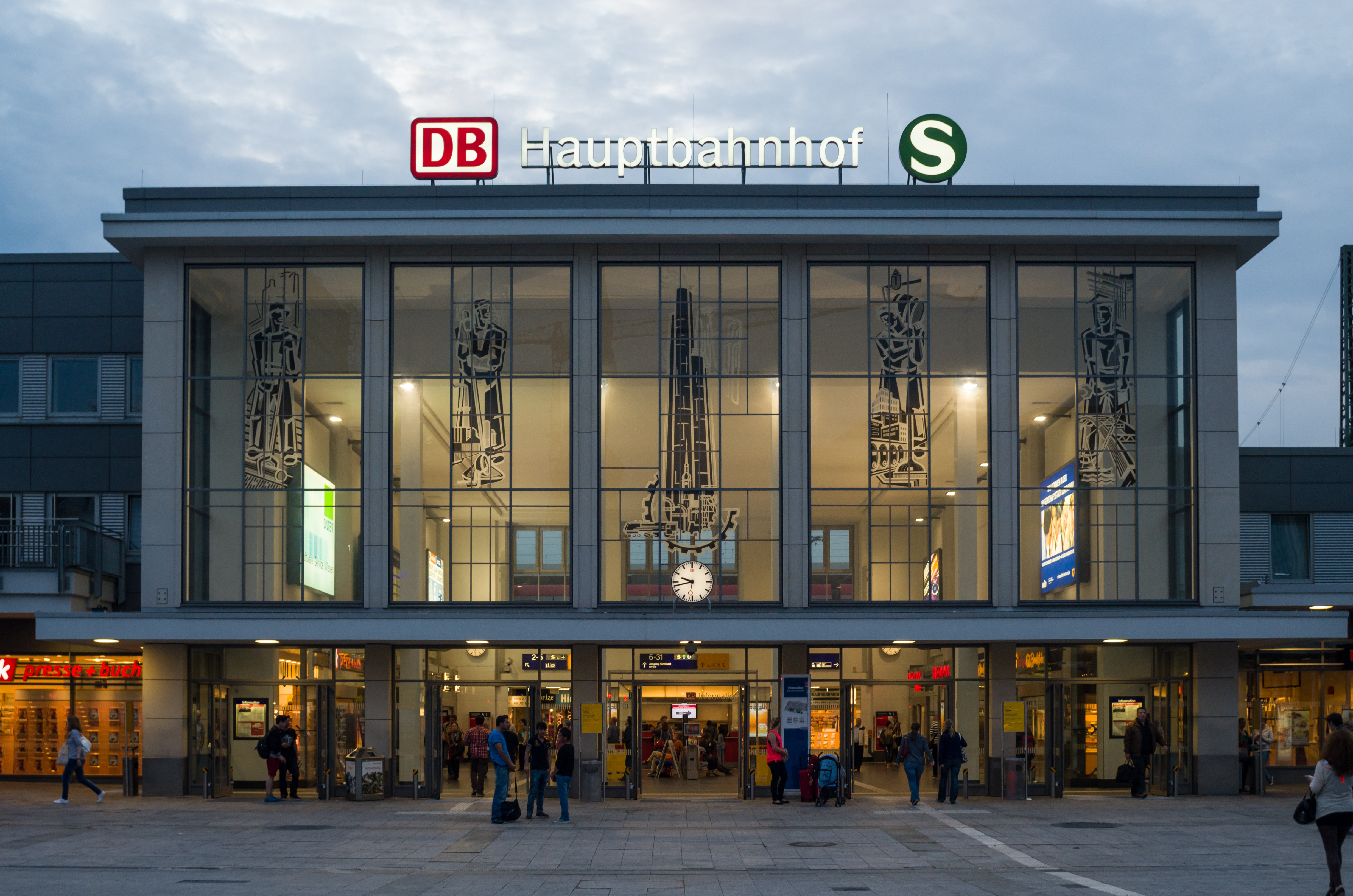 file dortmund hauptbahnhof abends. Black Bedroom Furniture Sets. Home Design Ideas